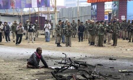 Security tightened in Manipur	after series of blasts hits state