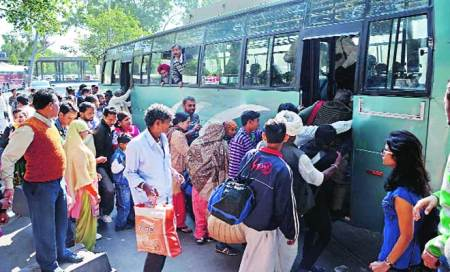 Day 1 of bus workers' strike: Chaos at ISBT,long route commuters stranded