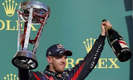 Sebastian Vettel sets record with US Grand Prix win