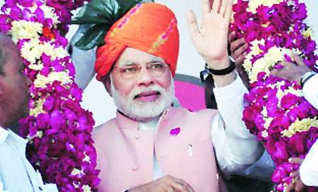 Modi on the move,Gujarat governmentgrounded