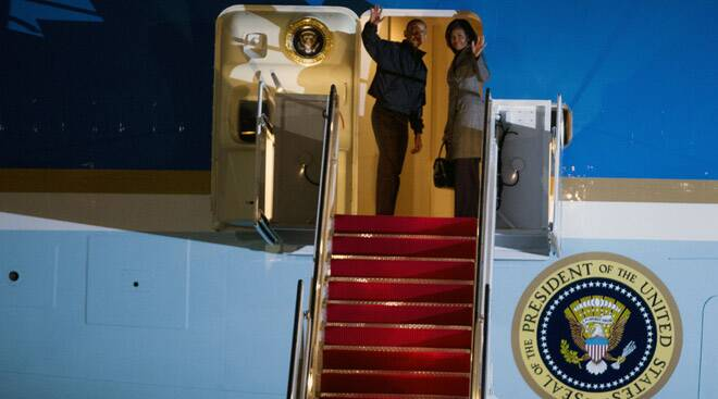 President Obama leaves for his landmark trip to India