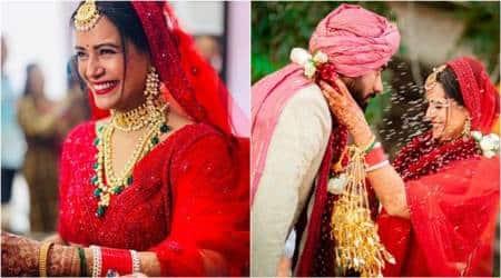 mona singh wedding pics, mona singh, mona singh mariage, mona singh husband, mona singh wedding photos, who is shyam gopalan, gaurav gera, mona singh photos, mona singh marriage pics