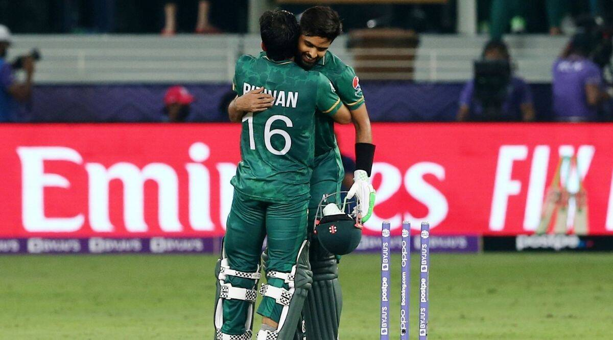 Babar Azam and Mohammad Rizwan steered Pakistan to a 10-wicket victory against India (PTI)
