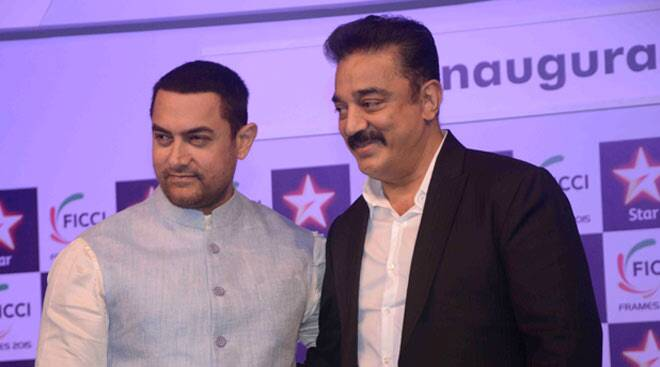 Legends Kamal Haasan, Aamir Khan come together