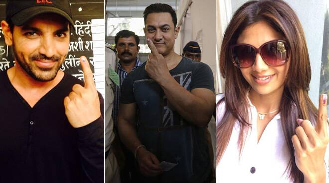 Aamir Khan, Shilpa Shetty, John Abraham cast their vote