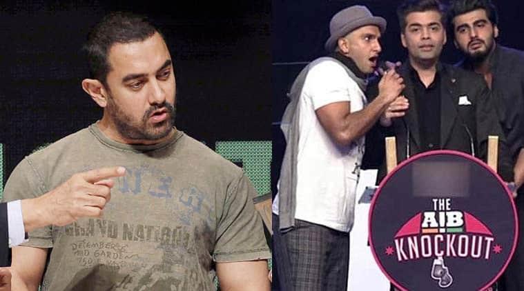 Aamir khan, ranveer singh, karan johar, arjun kapoor, aib roast, aib knockout, aamir khan on aib roast