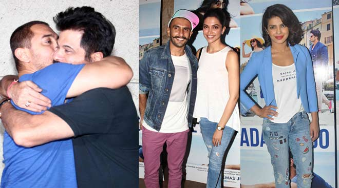 Deepika, Aamir at Ranveer, Anil's 'Dil Dhadakne Do