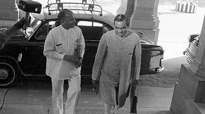 Bharat Ratna Atal Bihari Vajpayee's political journey: Rare pictures from Express Archives