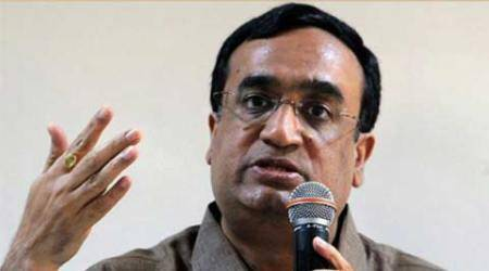 ajay maken, congress, delhi congress, aap, aam aadmi party, aap ad expense, mcd polls, mcd elections, delhi news, indian express, india news