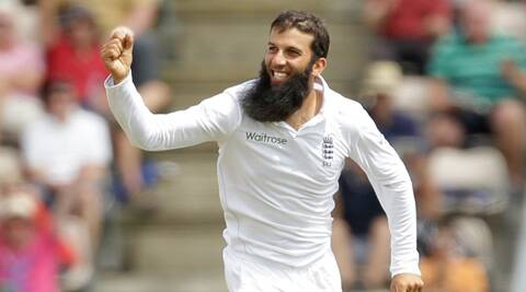 Moeen dismissed Jadeja, Kumar and Shami in the space of 12 balls, before he aptly took the final scalp of Singh. (Source: AP)