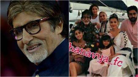 amitabh bachchan, amitabh bachchan family, amitabh bachchan family picture, amitabh bachchan maldives, bachchan maldives, amitabh birthday, amitabh 75th birthday, abhishek bachchan instagram, abhishek amitabh photo