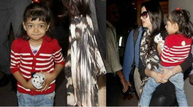 Aishwarya Rai Bachchan returns from London with Aaradhya in tow