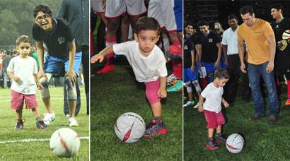 Aamir Khan's son Azad Rao plays football with mum Kiran, uncle Salman