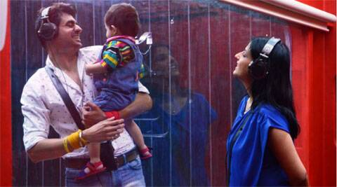 Bigg Boss 8: Pritam gets a visit from his wife, baby son