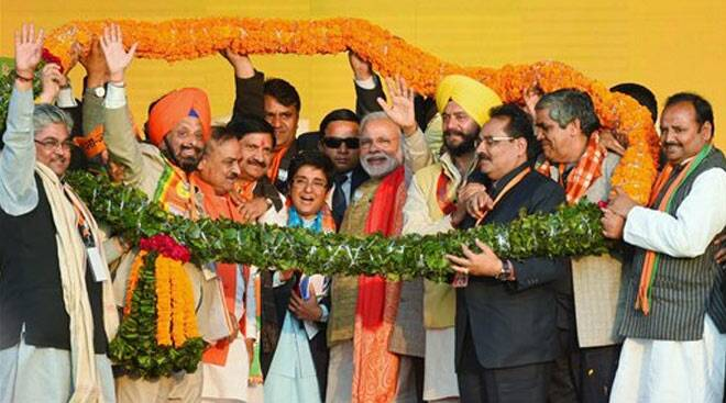 PM Narendra Modi woos Delhi voters at his first BJP rally ahead of Delhi elections