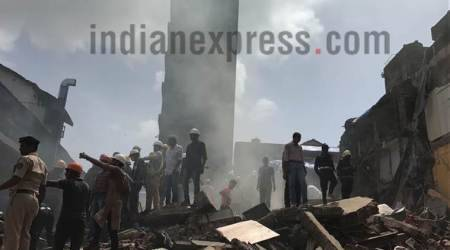 mumbai building collapse, bhendi bazaar building collapse, building collapse news, mumbai building collapse death toll, byculla building collapse, mumbai news, indian express news