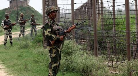 Pakistani rangers fired at Border Out Posts in Arnia-Pindi forward area in R S Pura last night in Jammu district, a BSF officer said.