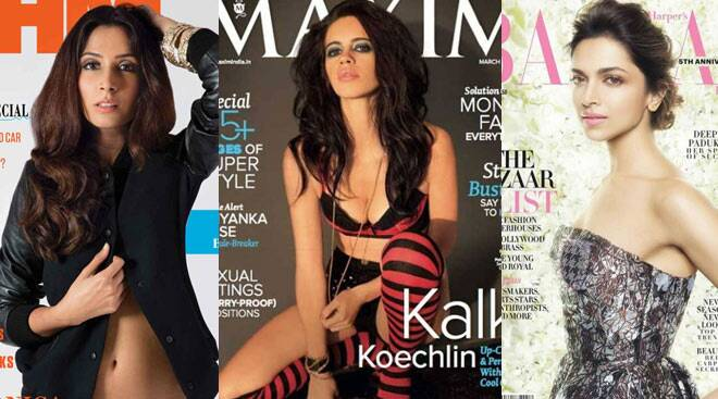 Cover girls Deepika, Monica, Kalki turn the heat on this March