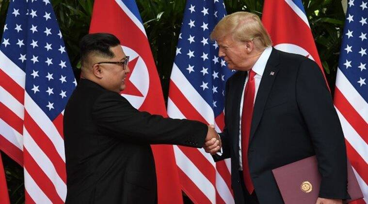 Singapore summit, Trump Kim summit, Trump Kim meeting, North Korea, America, North Korea America meeting, North Korea denuclearisation, denuclearisation, North Korea news, Singapore news, America news, Usa news, world news, Indian Express