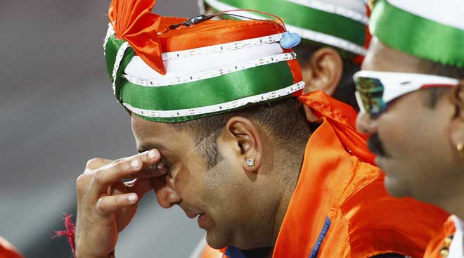 Emotions run high as India crash out of World Cup