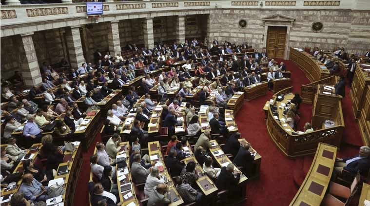 Greek lawmakers, Parliament debate, Syriza party, Greece bailout debate, Alexis Tsipras, World news