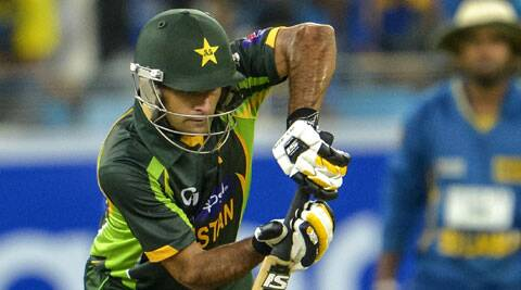 Mohammad Hafeez has scored three centuries in the first four one-day matches against Sri Lanka (AP)