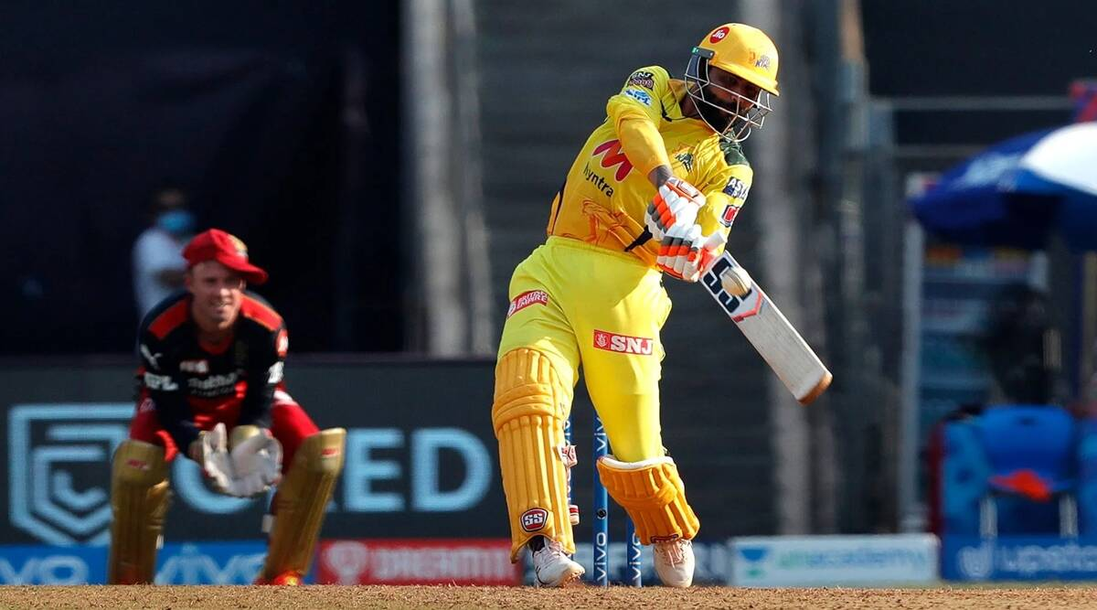 Ravindra Jadeja smashes Harshal Patel for record-equalling 37 runs in an  over | Sports News,The Indian Express