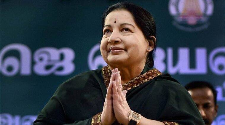 Chennai: AIADMK supremo J Jayalalithaa after administering oath as Tamil Nadu Chief Minister at Madras University Centenary auditorium in Chennai on Monday. PTI Photo by R Senthil Kumar(PTI5_23_2016_000103B)