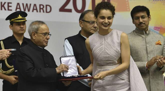 Bollywood Queen Kangana Ranaut honoured with National Best Actress Award