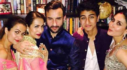 Candid pics from Soha Ali Khan, Kunal Khemu's reception: Kareena bonds with Saif's son Ibrahim; Neha, Sophie have some fun
