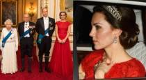 Kate Middleton steps out in Princess Diana's tiara and recycled Jenny Packham gown