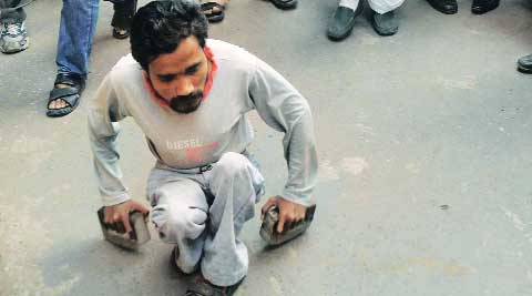 RPF cop beats up physically-challenged man, suspended