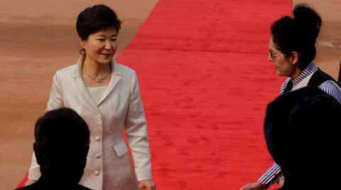 South Korean President Park Geun-hye. Express photo: Praveen Jain