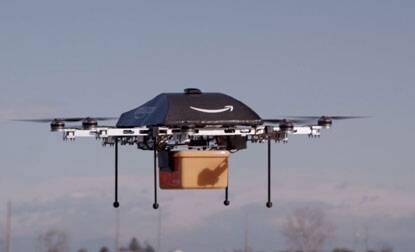 Amazon.com CEO Jeffrey P. Bezos says testing drones for delivery