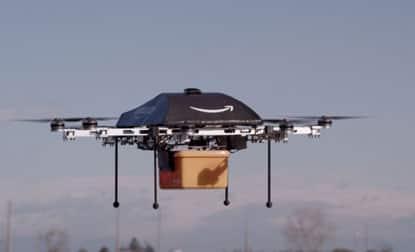 Amazon.com CEO Jeffrey P. Bezos says testing drones fordelivery