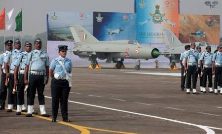 MiG-21 FL jet,workhorse of the Indian Air Force,flies intohistory
