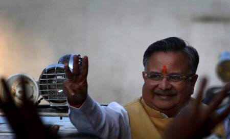 Raman Singh sworn-in as Chhattisgarh CM for third consecutive term