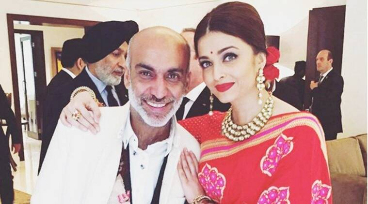 Designer Manish Arora with Aishwarya Rai Bachchan in New Delhi. (Photo: Instagram/ Manish Arora)