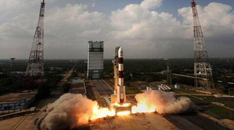 India's Polar Satellite Launch Vehicle (PSLV-C25), carrying Mars orbiter, blasts off from the Satish Dhawan Space Centre in Sriharikota. ( Source Reuters )