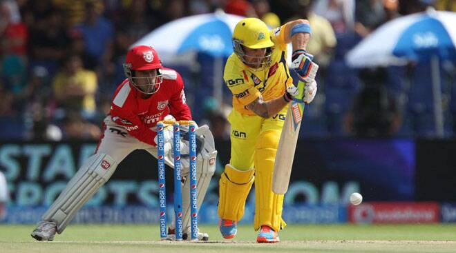 IPL 7 Live Cricket Score, KXIP vs CSK: CSK off to a flier against KXIP in Abu Dhabi