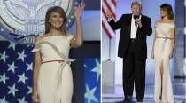Melania Trump looks like a vision in white at Trump's inaugural ball