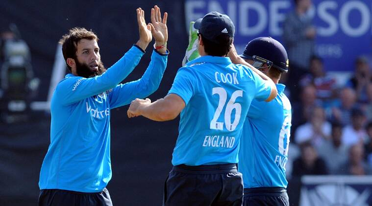 Moeen Ali played his part by picking a couple of wickets in the middle overs. He returned with figures of 2/34 (Source: AP)