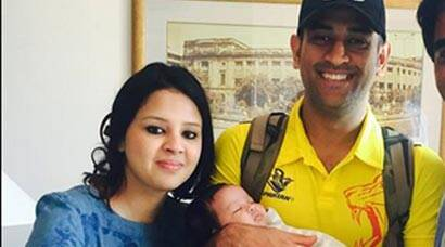 Dhoni, wife Sakshi, daughter Ziva's IPL tour continues