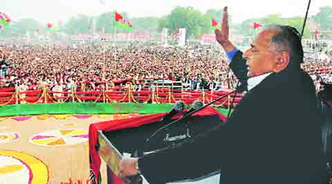 Mulayam Singh Yadav at a rally in Jhansi Saturday.