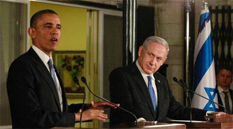 US President Barack Obama with Israeli Prime Minister Benjamin Netanyahu. (Source: Reuters)
