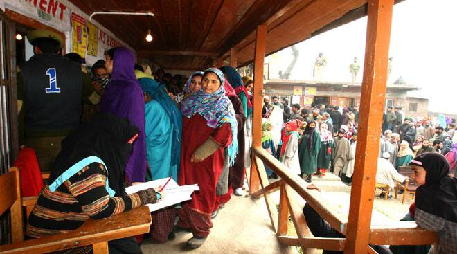 Record voter turnout in Jammu and Kashmir