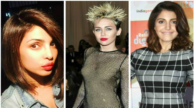 Priyanka, Anushka, Sonakshi, Miley: Celebrities rock the short hair look