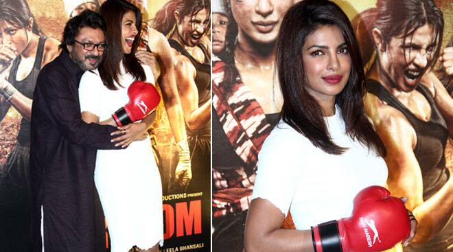 Priyanka Chopra back to her chic look for 'Mary Kom' trailer launch