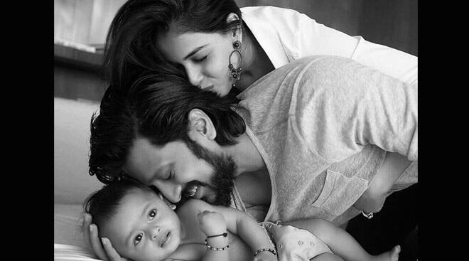Riteish Deshmukh shares son Riaan's first picture