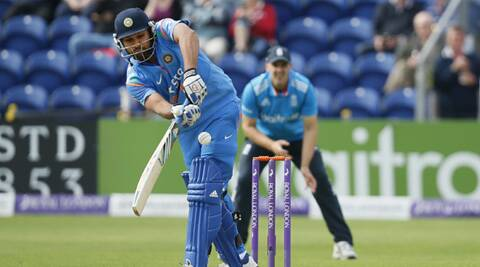Rohit Sharma scored a gutsy 52 in the second ODI against England on Wednesday (Source: AP)